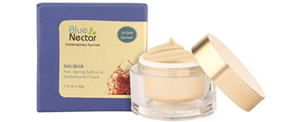 Blue Nectar Ayurvedic Anti Ageing Saffron & Sandalwood Face Cream