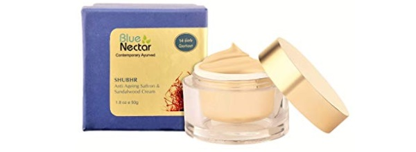 Blue Nectar Ayurvedic Sandalwood & Saffron Anti Ageing & Anti Wrinkle Skin Cream for Men