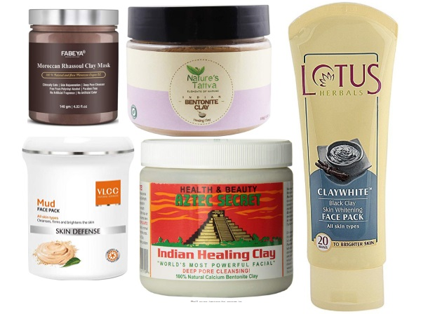 Clay Masks in India for Oily skin and Large Pores