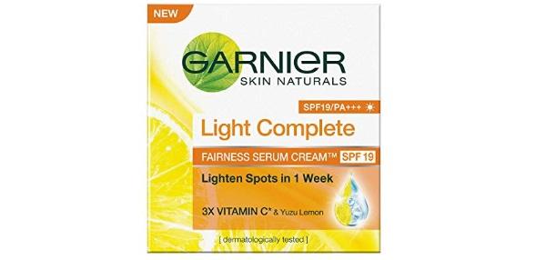 Garnier Skin Naturals, Light Complete Serum Cream SPF 19