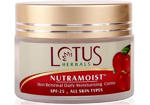 Lotus Herbals Nutramoist Skin Renewal Daily Moisturising Creme with SPF 25
