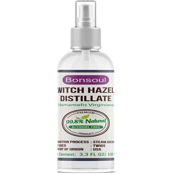 BONSOUL Pure and Natural No Alcohol Witch Hazel Distillate Toner