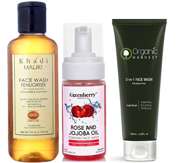 Best Paraben Free and Organic Face wash in India