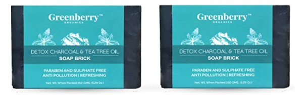 Greenberry Organics Activated Charcoal & Tea Tree Oil Soap