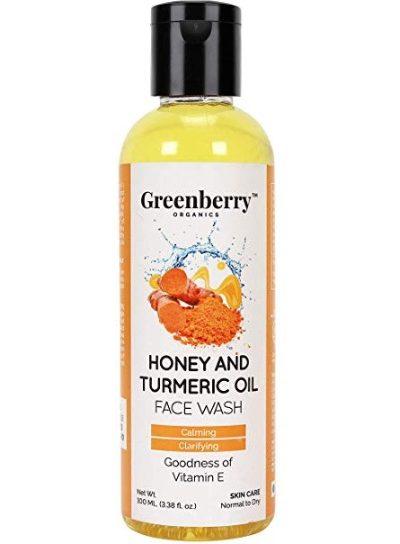 Greenberry Organics Honey and Turmeric Oil Face Wash