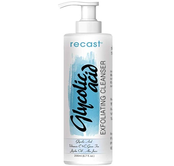 Recast Glycolic Acid Exfoliating Face Wash for Men and Women