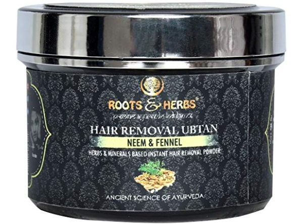 Roots & Herbs Neem and Fennel Depilatory Ubtan for Hair Removal