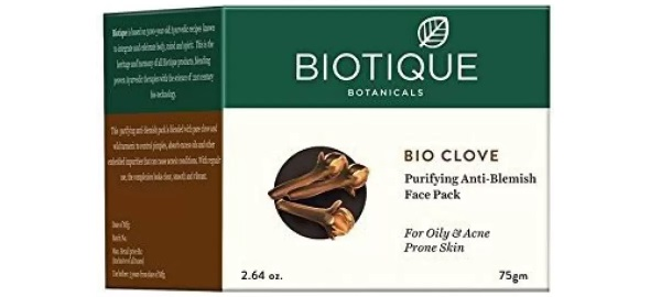 Biotique Bio Clove Purifying Anti Blemish Face Pack for Oily & Acne Prone Skin