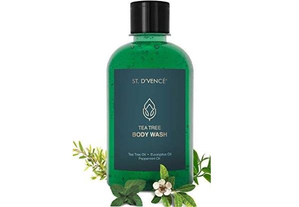 D'VENCÉ Bath & Body Wash- with Tea Tree Oil, Eucalyptus Oil and Peppermint Oil