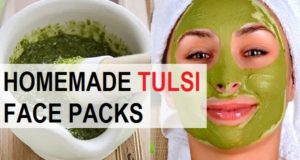 Homemade Tulsi Face Packs