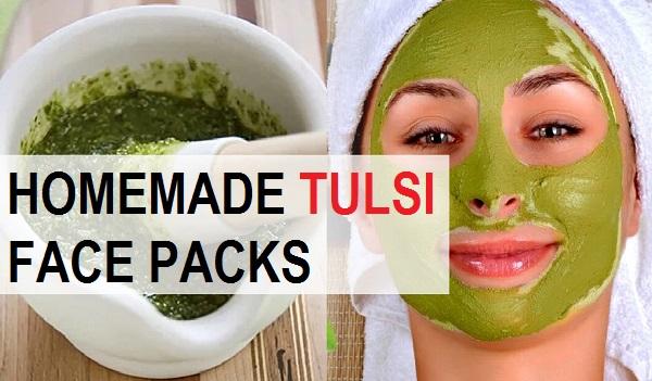 Homemade Tulsi Face Packs