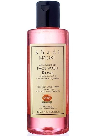 Khadi Mauri Herbals Rose Herbal Face Wash