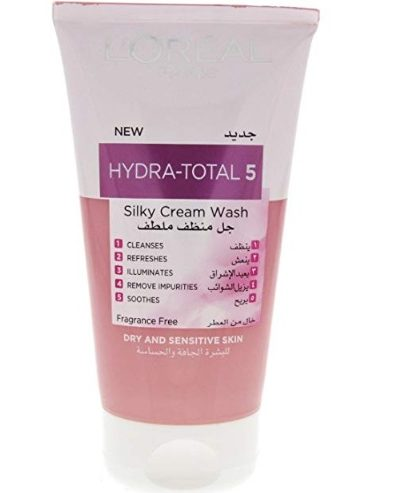 L'Oreal Hydra-Total 5 for Dry and Sensitive Skin Silky Cream Face Wash