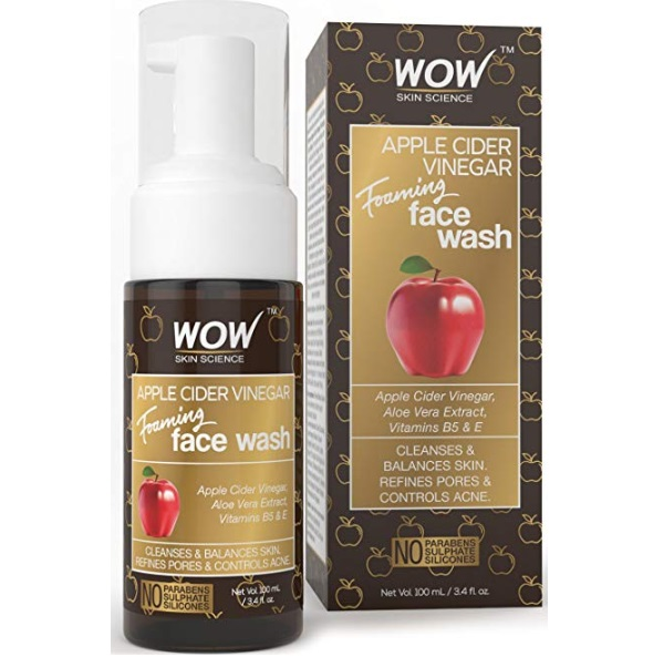 Wow Apple Cider Vinegar Foaming Face Wash