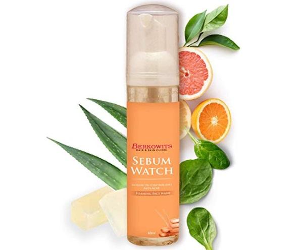 Berkowits Hair & Skin Clinics Sebum Watch Face wash For Acne Scar