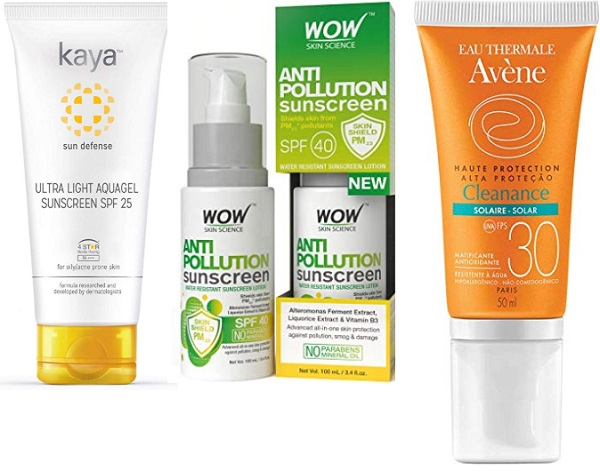 Best Sunscreen for acne prone skin in India