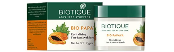 Biotique Bio Papaya Revitalizing Tan Removal Scrub for All Skin Types