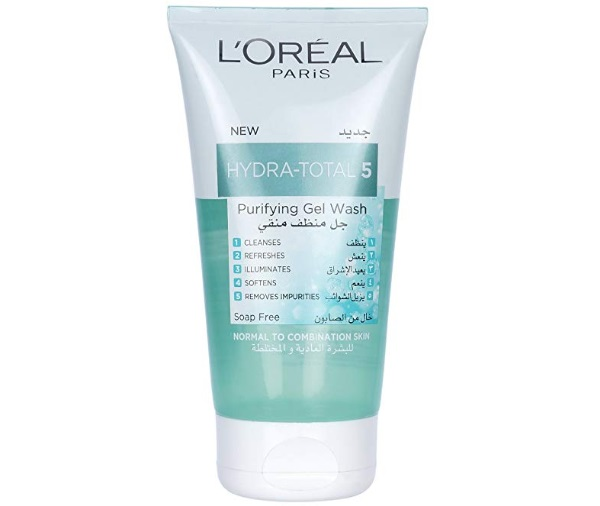 L'Oreal Paris Hydra Total 5 Purifying Gel Face wash for Normal and Combination Skin