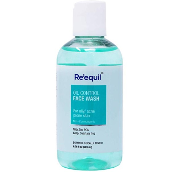 RE' EQUIL Oil Control Anti Acne Face Wash for Combination, Oily and Sensitive Skin