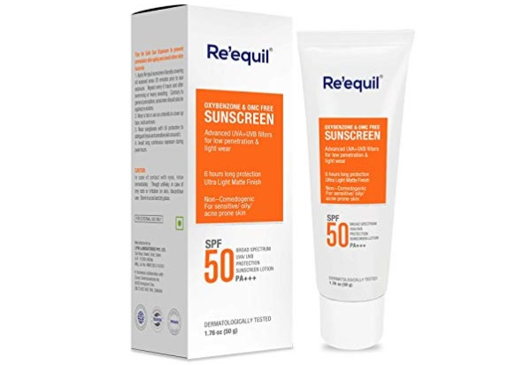 RE' EQUIL Oxybenzone and Zero-Omc Sunscreen for Oily