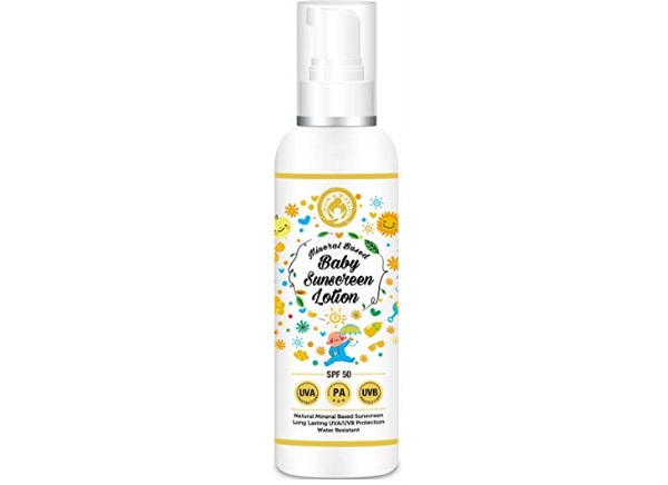 Mom & World Mineral Based Baby Sunscreen Lotion SPF 50