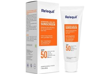 RE' EQUIL SPF 50 Sunscreen for Oily, Sensitive and Acne Prone Skin