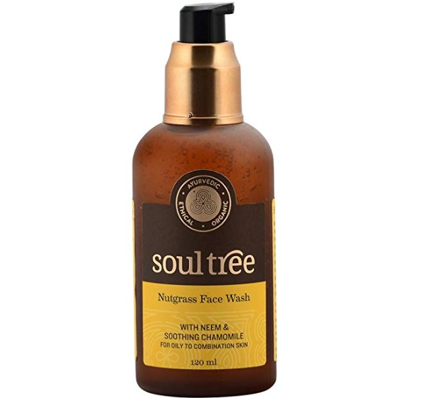 SOULTREE Nutgrass Face Wash with Neem and Chamomile