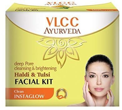 VLCC Ayurveda Deep Pore Cleansing And Brightening Haldi And Tulsi Facial Kit