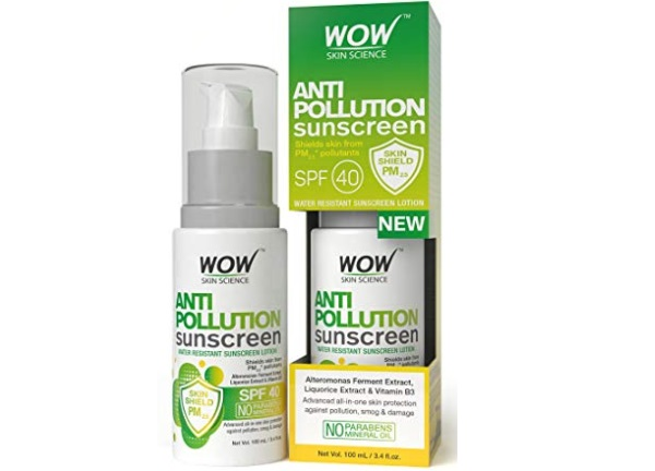 WOW Anti Pollution SPF40 Water Resistant Sunscreen Lotion