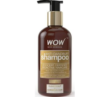 WOW Anti Dandruff Shampoo with No Parabens and Sulphate