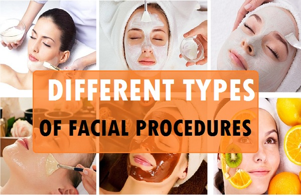 different types of facials