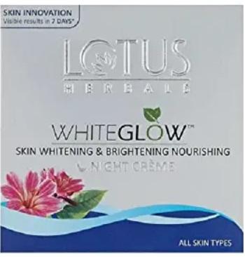 Lotus Herbals Whiteglow Skin Whitening and Brightening Night Cream