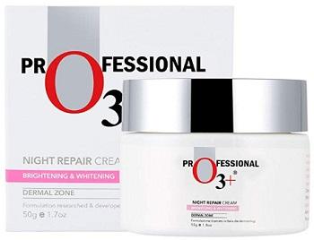 O3+ Skin Whitening Night Repair Cream