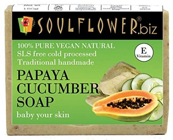 Soulflower Papaya And Cucumber Handmade Soap