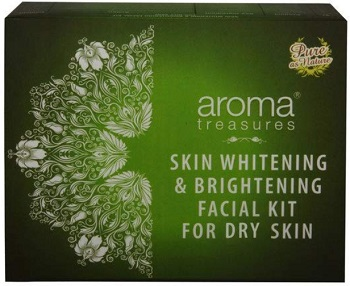 Aroma Treasures Skin Whitening and Brightening Facial Kit for Dry Skin