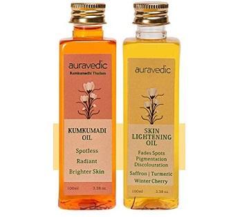 Auravedic Skin Lightening Oil with Kumkumadi Oil