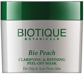 Biotique Bio Peach Clarifying & Refining Peel-Off Mask For Oily & Acne Prone Skin