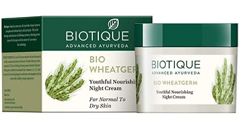 Biotique Bio Wheat Germ FIRMING FACE and BODY NIGHT CREAM For Normal To Dry Skin