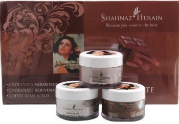 Shahnaz Husain's Vedic Solution Chocolate Kit for Dry Face Glow