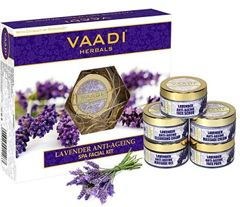 Vaadi Herbals Lavender Anti Ageing Facial Kit for Dry skin