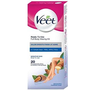 Veet Full Body Waxing Kit for Sensitive Skin