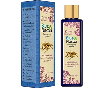 Blue Nectar Ayurvedic Aromatic Bath and Body Massage Oil