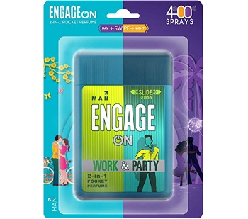ENGAGE ON 2-in-1 Work & Party Pocket Perfume For Man
