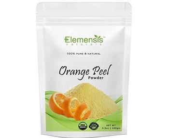 Elemensis Naturals Pure & Natural Orange Fruit Peel Organic Powder for Skin Whitening