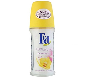 Fa Floral Protect Orchid & Viola Roll On Deodorant For Women