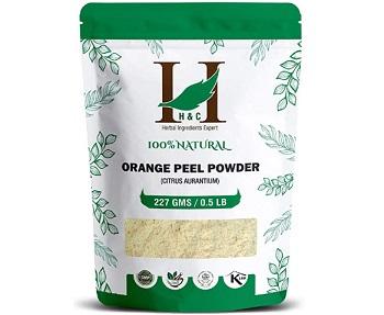 H&C Natural Orange Peel (Citrus Aurantium) Powder