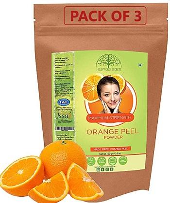 Hollywood Secrets 100% Pure Organic Orange Peel Powder