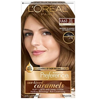 L'Oreal Paris Preference Sun-Kissed Caramels Hi-Lift in Gold Brown