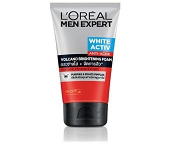 L'Oreal Men Expert White Active Anti-Acne Volcano Brightening Foam