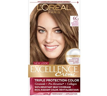 L'Oreal Paris Excellence Crème Triple Protection Color Light Golden Brown